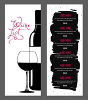 Wijnkaart ontwerp. vector