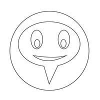 praten toespraak bubble pictogram