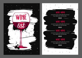 Wijnkaart ontwerp.