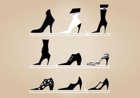 hoge hak schoenen vector pack