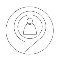 mensen pictogram in dialoog tekstballon vector