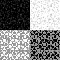 zwart wit grijs abstract vectorpatronen vector