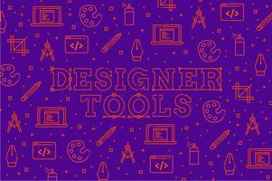 Ontwerper gereedschap pictogram patroon achtergrond