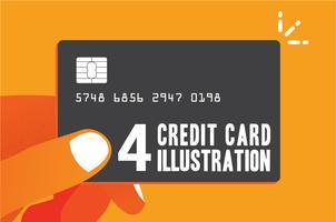 Creditcard winkelen voordeel illustratie vector