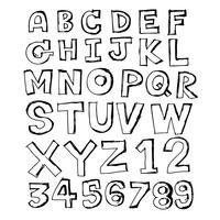 Doodle hand getrokken lettertype ontwerp