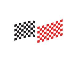 Race vlagpictogram, eenvoudig ontwerp race vlag logo