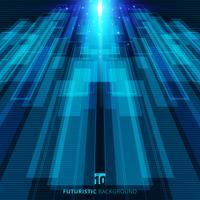 De abstracte blauwe virtuele futuristische digitale achtergrond van het technologieconcept