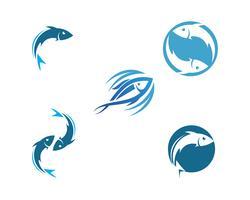 Vis logo sjabloon vector