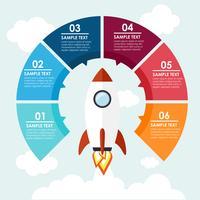 Rocket info-graphic vector