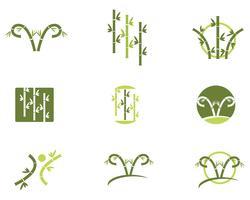 Bamboe Logo sjabloon vector pictogram