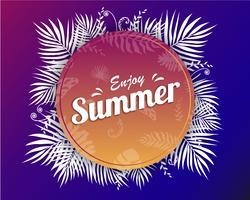 Mooie zomer banner en poster kaart