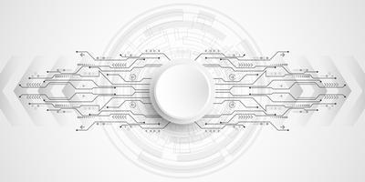 Vector abstract ontwerp van de achtergrondtechnologiechakeling.