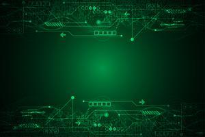 Vector abstracte achtergrondtechnologieinnovatie van de toekomst.