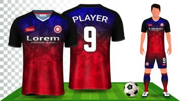 Voetbal Jersey en voetbal Kit presentatie Mockup sjabloon.