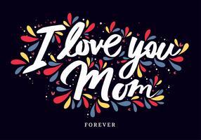 moeder tpography vector ontwerp