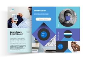 Eenvoudige kleuren decoratieve brochure