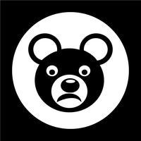 Bear pictogram vector