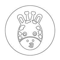 giraffe pictogram vector