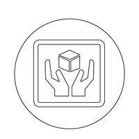 breekbaar pictogram vector