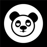 Schattig panda pictogram