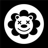 schattige leeuw icoon