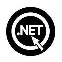 Domein dot net teken pictogram