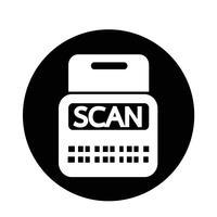 scan voorraad pictogram vector