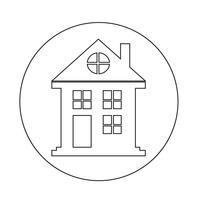 Onroerend goed huis pictogram