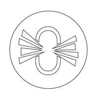 koppelingspictogram verwijderen vector