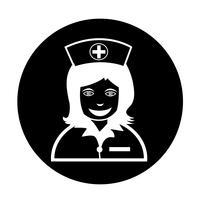 Verpleegster pictogram vector