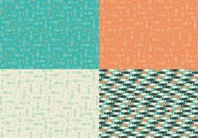 Retro vis vector patroon pack
