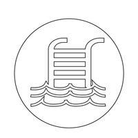 Zwembad pictogram