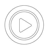 afspeelknoppictogram vector