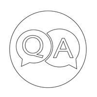Vraag antwoord pictogram vector