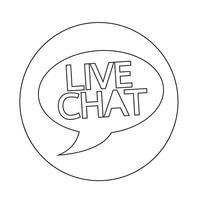 Live chat tekstballon pictogram vector