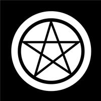 Pentagram pictogram vector