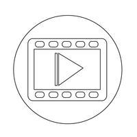 video film icoon vector