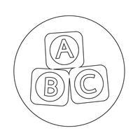 ABC baby speelgoed bakstenen blok pictogram