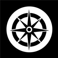 Kompas pictogram vector