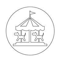 vrolijk gaan ronde pictogram