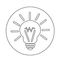 licht idee pictogram vector