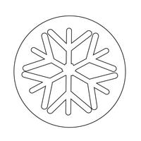 Sneeuwvlok pictogram