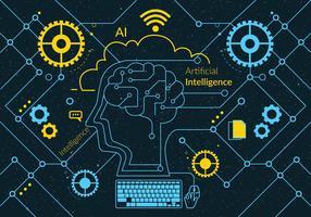 Kunstmatige intelligentie Vol 2 Vector