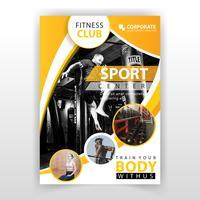 gele abstracte fitness-flyer