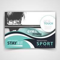 sport adverteer flyer ontwerp vector