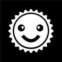 Teken van zon pictogram