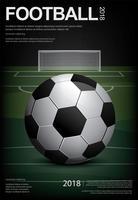 Voetbal Voetbal Poster Vestor Illustratie vector