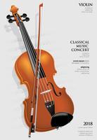 De Klassieke Muziekconcept Viool Vectorillustratie vector