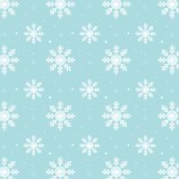Blauw sneeuwvlokkenpatroon. Wit sneeuwvlokkenpatroon op blauwe achtergrond