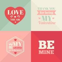 Vintage Valentijnsdag kaarten. Valentijnsdag kaarten vector